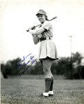 1940s, circa. - Betsy Jochum with the South Bend Blue Sox by Jean Anna Faut and Betsy Jochum