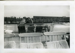 1940s, circa. - Betsy Jochum and Elizabeth Mahon on a Ferry by Jean Anna Faut, Betsy Jochum, and Elizabeth Mahon