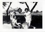 1946 - Betty Luna, Elizabeth Mahon, and Marie Kruckel by Jean Anna Faut, Betty Luna, Elizabeth Mahon, Marie Kruckel, and Joyce Hill