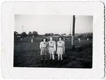 1946, circa. - Bonnie Baker, Betty Luna, and Daisy Junor by Jean Anna Faut, Bonnie Baker, Betty Luna, and Daisy Junor