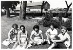 1946 - Dottie Naum, Marge Stefani, Marie Kruckel, Lillian Luckey and Betty Luna by Jean Anna Faut, Dorothy Naum, Marge Stefani, Marie Kruckel, Lillian Luckey, Betty Luna, and Joyce Hill
