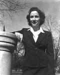 """1941 - Elizabeth """"Lib"""" Mahon on Winthrop's front campus by Elizabeth Mahon"""