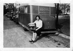 """1942 - Elizabeth """"Lib"""" Mahon on Winthrop's front campus by Elizabeth Mahon"""