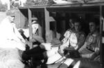 "1944 - Martin ""Marty"" McManus , Pauline ""Pinky"" Pirok , and Helen""Nieckie"" Fox of the Kenosha Comets by Elizabeth Mahon, Martin Marty McManus, Pauline Pinky Pirok, and Helen Nickie Fox"
