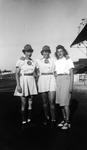 "1945 - Betsy Jochum and Elizabeth ""Lib"" Mahon with a friend by Elizabeth Mahon and Betsy Jochum"