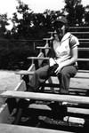 1945, circa. - South Bend Blue Sox fan by Elizabeth Mahon
