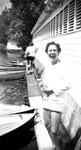 "1947 - Elizabeth ""Lib"" Mahon , and Betsy Jochum at Pleasant Lake , Michigan by Elizabeth Mahon and Betsy Jochum"