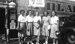 "1945 - Betsy Jochum and Elizabeth ""Lib"" Mahon with friends by Elizabeth Mahon and Betsy Jochum"