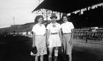 "1945 - Elizabeth ""Lib"" Mahon with friends by Elizabeth Mahon"