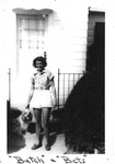 1940s, circa. - Betsy Jochum and her dog Butch by Elizabeth Mahon