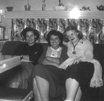 "1951 - Charlene ""Shorty"" Pryer, Shirley Stovroff and a friend by Elizabeth Mahon, Charlene Shorty Pryer, and Shirley Stovroff"