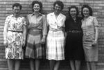 1940s, circa. - Team Chaperones, unidentified, Dottie Hunter, Helen Moore, Lex McCutchan and Ryan Hamilton by Elizabeth Mahon, Dottie Hunter, Helen Moore, Lex McCutchan, and Ryan Hamilton