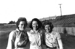 "1940s, circa. - Kathyrn ""Katie"" Vonderau, a chaperone and Jane ""Jeep"" Stoll by Elizabeth Mahon, Kathryn Katie Vonderau, and Jane Jeep Stoll"