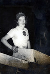 1946 - Inez Voyce Wearing her South Bend Blue Sox Uniform by Jean Anna Faut and Inez Ferne Voyce