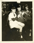 1940's circa - Jean Faut Playing Trumpet with Shriner's Band by Jean Anna Faut, South Bend Blue Sox, and The Shriners