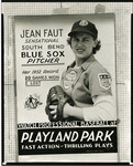 1953 circa - Jean Faut Poster by Jean Anna Faut, South Bend Blue Sox, and Playland Park