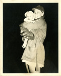 1948, 08 - Jean Faut Holding Her Son, Larry by Jean Anna Faut, Larry Winsch, and South Bend Blue Sox