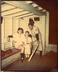 1953 circa - Jean Faut with husband and son by Jean Anna Faut, Karl Winsch, Larry Winsch, and South Bend Blue Sox