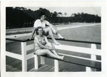 1946 - Jeanette Stocker and Jean Faut on a Deck by Jeanette Stocker Bottazzi and Jean Anna Faut