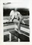 1946 - Jeanette Stocker on Pier by Jeanette Stocker Bottazzi