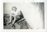 1946, circa - Jean Faut in Silo at Joyce Hills Farm by Jean Anna Faut and Joyce Hill Westerman
