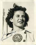 """1940's circa - Jenny """"Romey"""" Romatowski by Jean Anna Faut, Jenny """"Romey"""" Romatowski, and South Bend Blue Sox"""