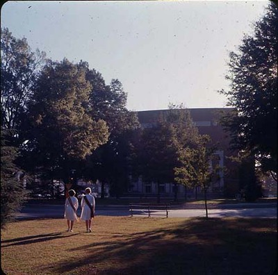 Marshals in Front of Byrnes Auditorium, late 1960s