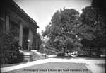 Carnegie Library with McLaurin Hall in Background 1928