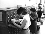Students Using the Card Catalogue System ca. 1955