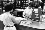 Student at the Circulation Desk 1955