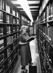 Student Browsing Books in the General Collection ca. 1955
