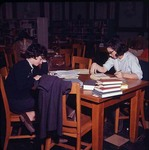 Students Studying in Carnegie Library, late 1960s