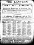 The Lantern, Chester S.C.- June 5, 1906
