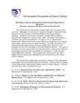 October 2006: Greater Access to US Goverment Documents by Dacus Library