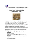 September 2007: U.S. Constitution Day by Dacus Library