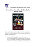 November 2007: National American Indian & Alaska Native Heritage Month by Dacus Library