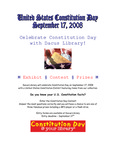 Constitution Day: September 17, 2008 - Contest by Dacus Library