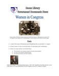 March 2009: Women in Congress by Dacus Library