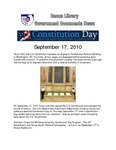September 2010: Constitution Day by Dacus Library