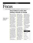 April 1999: Dean Retires; Web Resources; Excellence Report