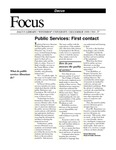 December 1999: Public Services; Library Facelift; Book Sale