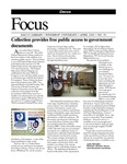 April 2003: Collection Provides Free Public Access to Government Documents by Dacus Library