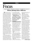 November 2003: Disaster Planning Makes a Difference