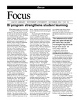 October 2004: BI Program Strengthens Student Learning by Dacus Library
