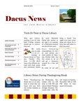Dacus News Volume 1, Issue 1 by Michaela Eileen Volkmar and Dacus Library