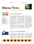 Dacus News Volume 1, Issue 2 by Michaela Eileen Volkmar and Dacus Library