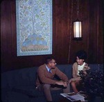 Student and Friend on Couch in Dinkins, late 1960s