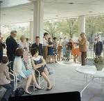 Students Meeting on Dinkins Porch, late 1960s by Winthrop University and Clarence H. and Anna E. Lutz Foundation