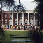 Prospective Students in Front of Johnson Hall on Winthrop Day, 1969 by Winthrop University and Clarence H. and Anna E. Lutz Foundation