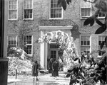 Kinard Hall in the snow ca. 1956